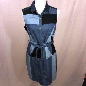Tommy Hilfiger Denim Color Block Patchwork Dress 6